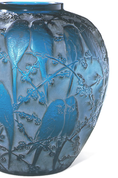 A Perruches vase designed by René Lalique, c.1920