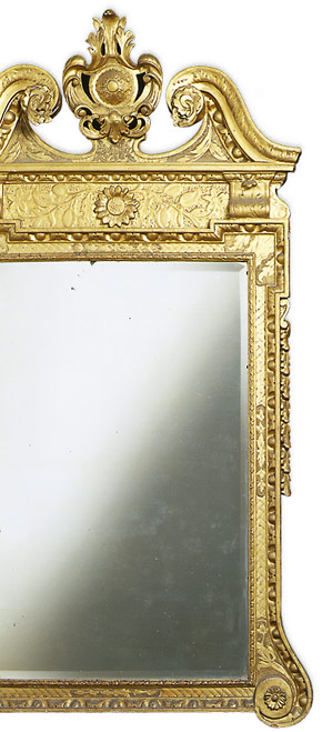 A George II giltwood carved mirror